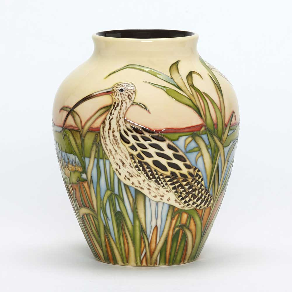 Moorcroft vase, call of the curlew product photo