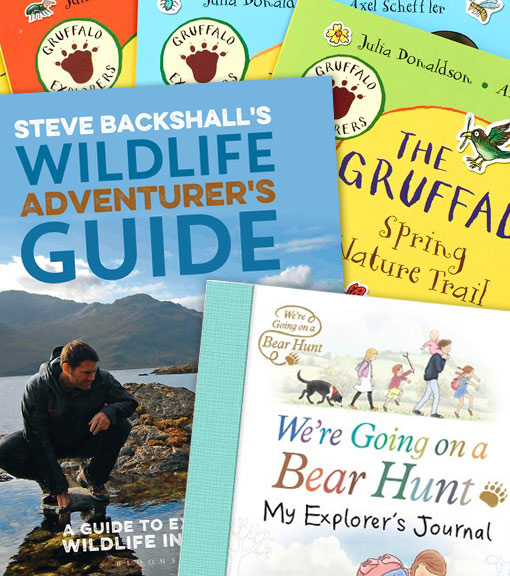 Outdoor and Activity books available to buy from the RSPB