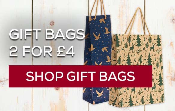 Christmas gift bags - 2 for £4. Shop gift bags