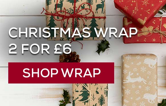 Christmas gift wrap - 2 for £6. Shop wrap