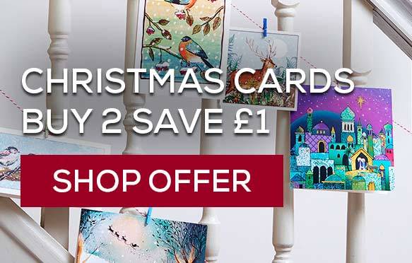 Buy 2 and save £1 on Christmas cards. Shop offer