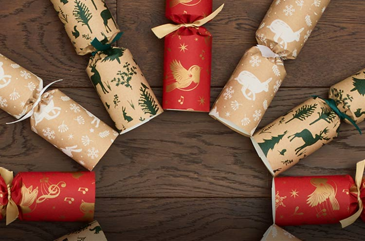 Recycled, eco Christmas crackers