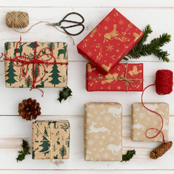 Eco Christmas recycled wrapping paper