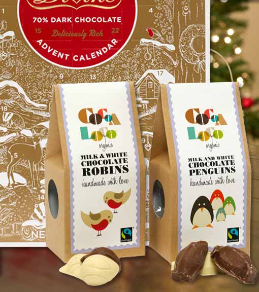 Christmas food chocolate biscuits range lifestyle shot