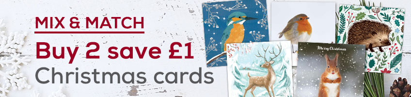Save £1 when you buy any 2 packs of Christmas cards at RSPB shop
