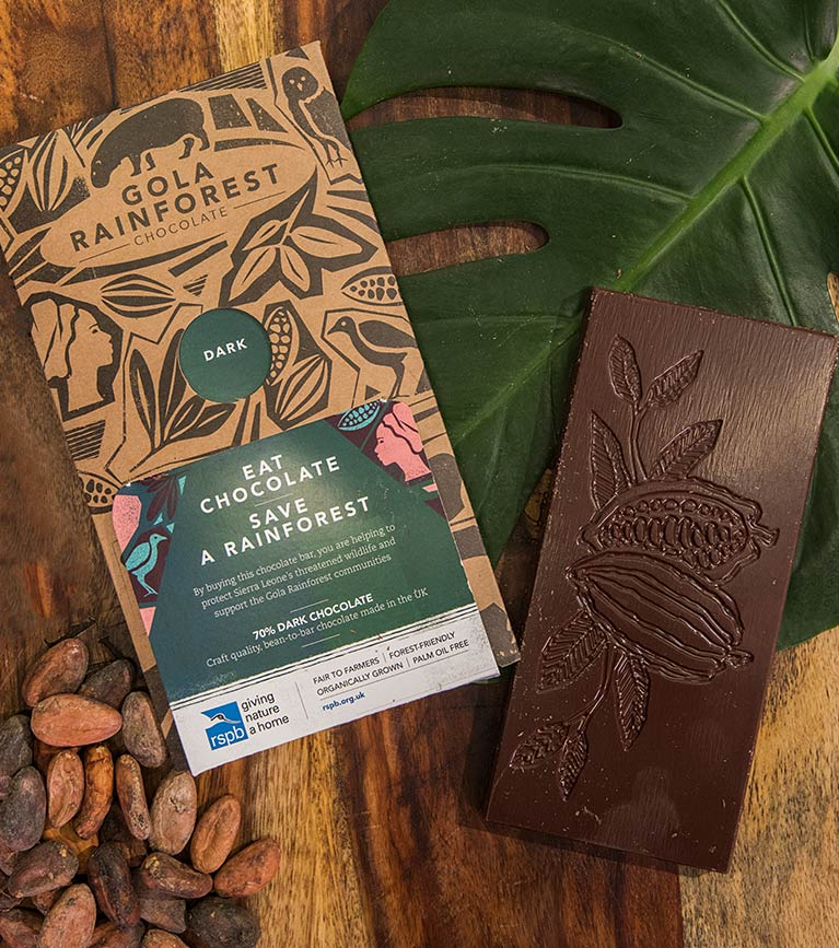 Fair to farmers and forest friendly Gola Rainforest Chocolate