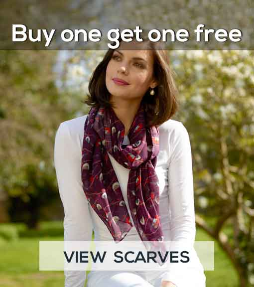 Buy one get one free on selected Scarves - view scarves