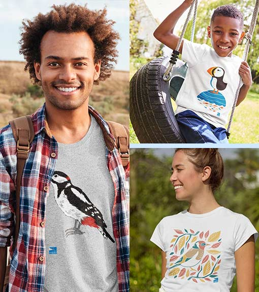 Printed campaign T-shirts for men, women and kids