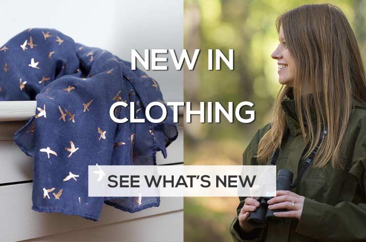 New in outdoor clothing and ladies scarves