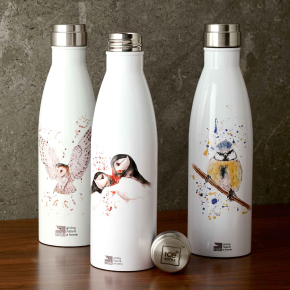 stainless steel flask bottles with exclusive bird colourful prints
