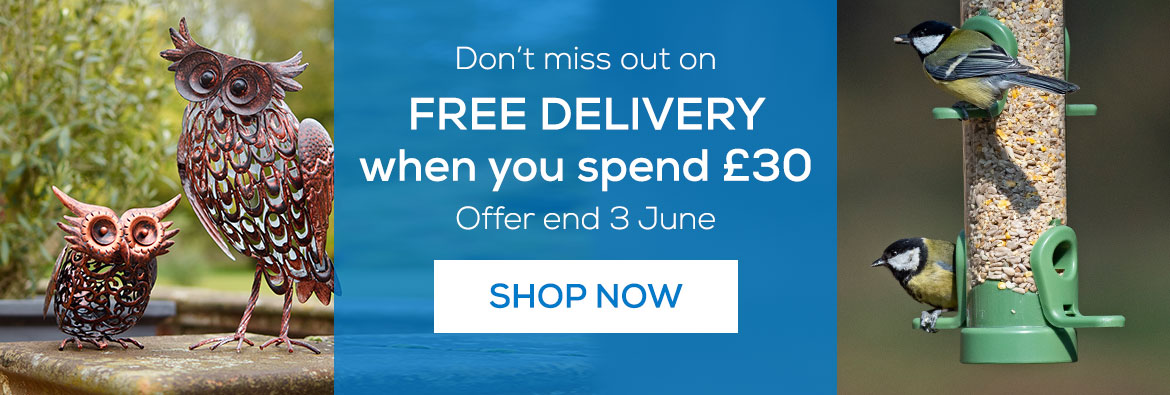 Don't miss out on free delivery when you spend £30. Offer ends 3rd June 2020