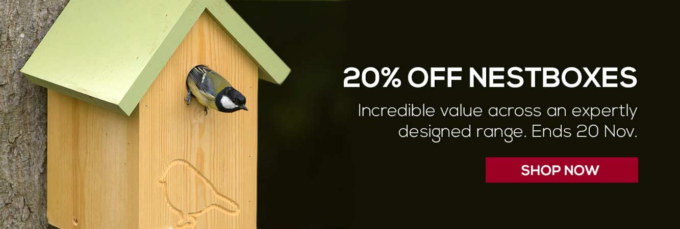 20% off all nest boxes from RSPB shop until 30 November
