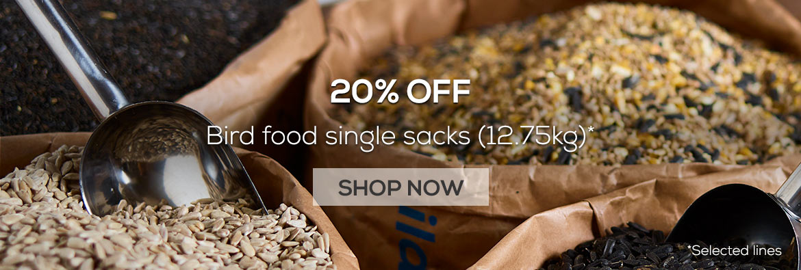 20% off single bird food sacks 12.75kg from the RSPB shop - selected lines