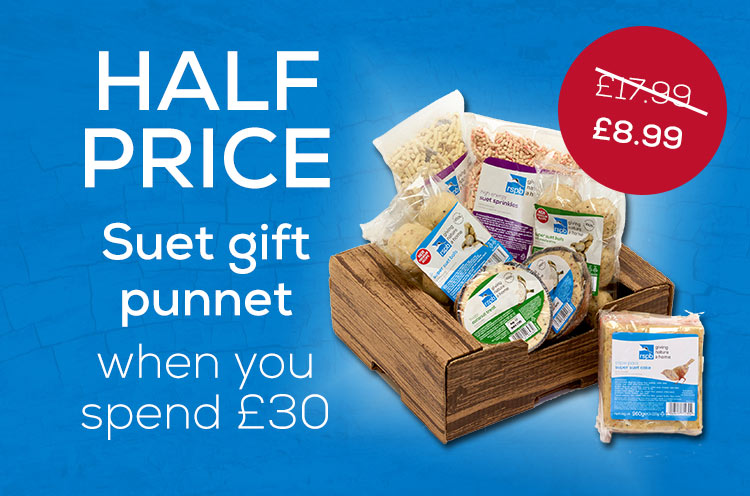 Spend 30 get a gift box of suet half price (usually £17.99), ends 5 January 2020