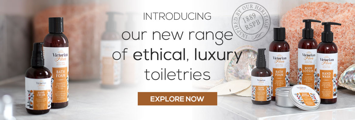 Explore our new range of ethical, vegan luxury toiletries inspired by our heritage.