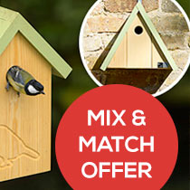 Mix and match offer on selected nest boxes and bird houses