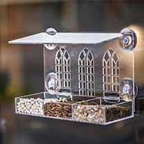 Bird window feeder