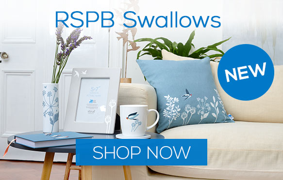 NEW for Spring Summer 2020 - RSPB Swallows range of homewares