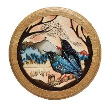 Moorcroft plaque starling murmuration product photo