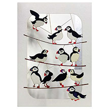 Puffins on branches product photo