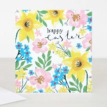 Happy Easter floral card product photo