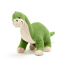 Brontosaurus knitted dinosaur product photo