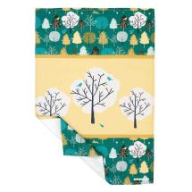 Wild wood tea towel - tree design product photo