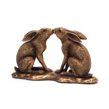 Kissing hares ornament product photo