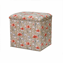 Stuart Jones RSPB Grosvenor ottoman, poppies product photo