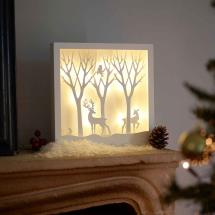 Light up forest scene product photo