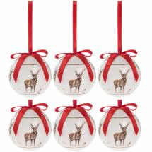 Stag Christmas baubles product photo