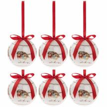 Robin Christmas baubles product photo