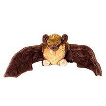 Brown bat plush soft toy product photo