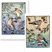 Berry feast RSPB charity Christmas cards - 10 pack product photo