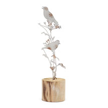 Birds & wildflowers metal wooden decoration product photo