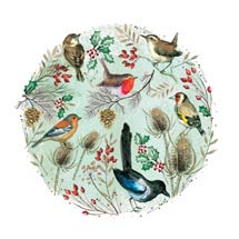 Christmas chorus RSPB charity Christmas cards - 10 pack product photo