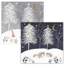 Christmas gathering RSPB charity Christmas cards - 10 pack, 2 designs product photo