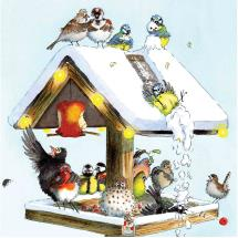 Christmas table RSPB charity Christmas cards - 10 pack product photo