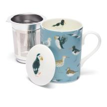 Coastal seabirds infuser mug product photo