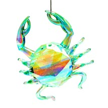 Crab tree decoration, green product photo