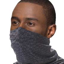 Snood face mask, dark geometric design product photo
