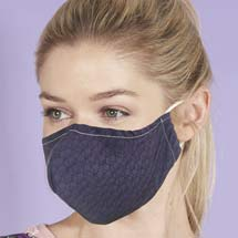 Reusable face mask, dark geometric design product photo