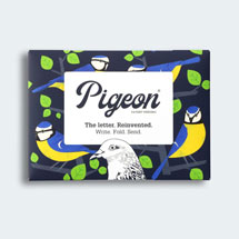 Eco-friendly stationery - 6 pack of Dawn chorus Pigeon letter papers product photo