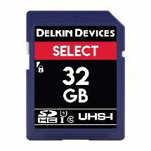 Delkin 32GB SD card product photo