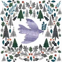 Dove flight RSPB charity Christmas cards - 10 pack product photo