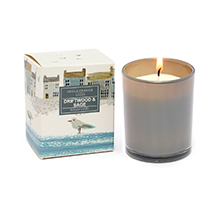 Driftwood and sage scented candle product photo