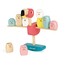 Flamingo balancing game - wooden toy product photo