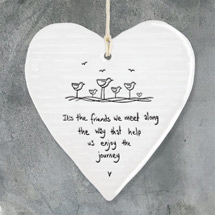 Friends heart hanging decoration, porcelain product photo