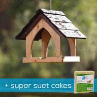 Gothic hanging bird table + 10 Super suet cakes offer product photo