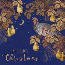 In a pear tree RSPB charity Christmas cards - 10 pack product photo